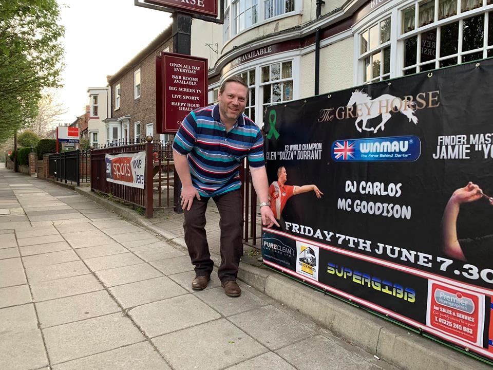 Legends of Darts new darts event at the Grey Horse